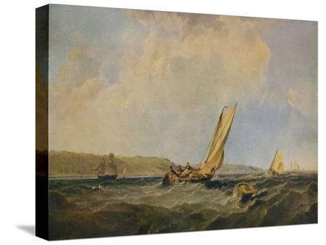 Blowing Hard-Off Cowes, 1834-George Hyde Chambers-Stretched Canvas Print