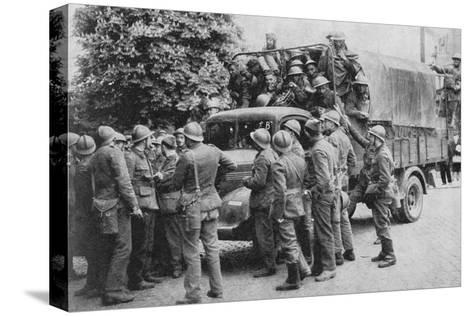 Allies Go To Belgiums Aid, 1940, (1940)--Stretched Canvas Print