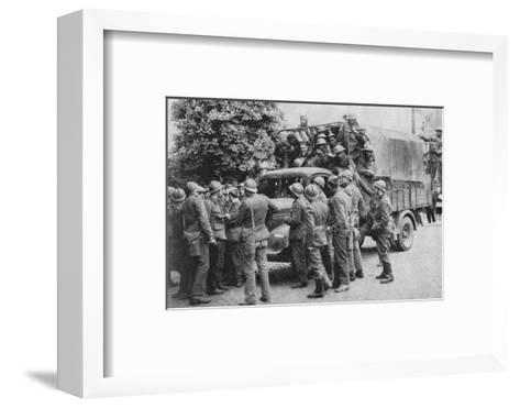 Allies Go To Belgiums Aid, 1940, (1940)--Framed Art Print