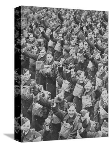 Canadas Airmen Arrive, 1939, (1940)--Stretched Canvas Print