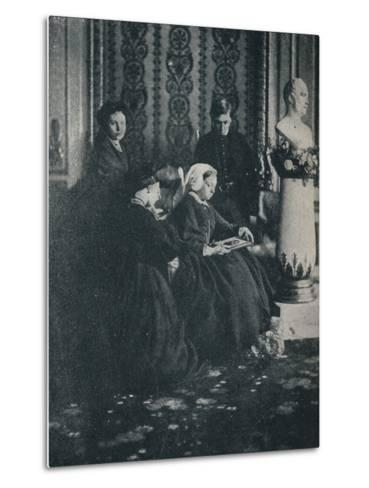 The Queen, with the Prince of Wales, the Princess Royal and the Princess Alice, in 1862, c1862, (1-William Samuel Bambridge-Metal Print