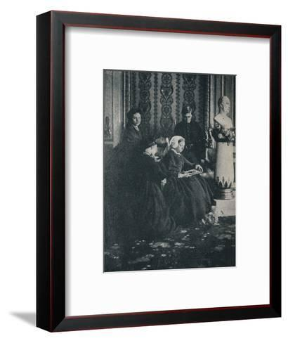 The Queen, with the Prince of Wales, the Princess Royal and the Princess Alice, in 1862, c1862, (1-William Samuel Bambridge-Framed Art Print