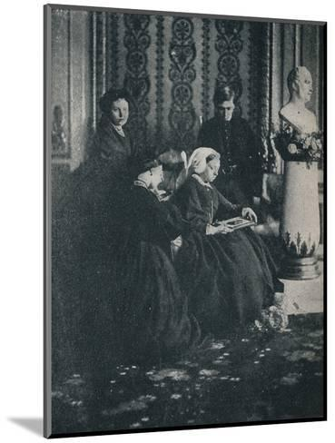 The Queen, with the Prince of Wales, the Princess Royal and the Princess Alice, in 1862, c1862, (1-William Samuel Bambridge-Mounted Photographic Print
