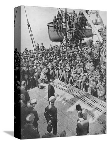 Mr. Eden with the Anzacs, 1940, (1940)--Stretched Canvas Print