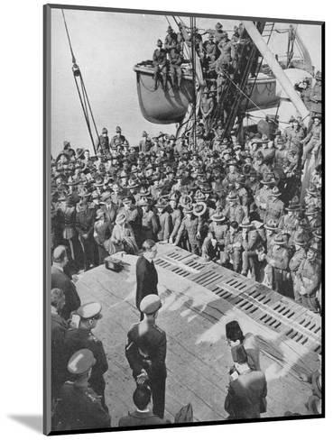 Mr. Eden with the Anzacs, 1940, (1940)--Mounted Photographic Print