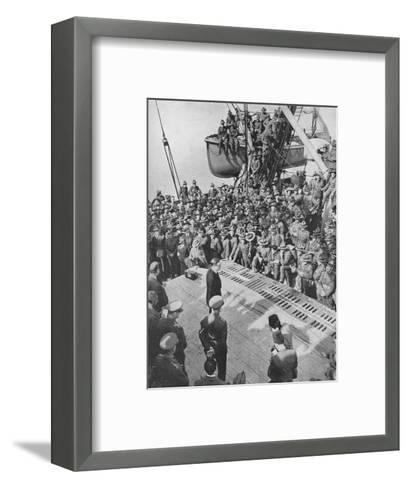 Mr. Eden with the Anzacs, 1940, (1940)--Framed Art Print