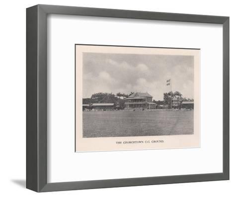 The Georgetown Cricket Club Ground, British Guiana, 1910 (1912)--Framed Art Print