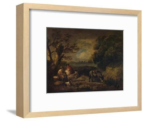 Gipsies resting with Donkey, 1795-George Morland-Framed Art Print