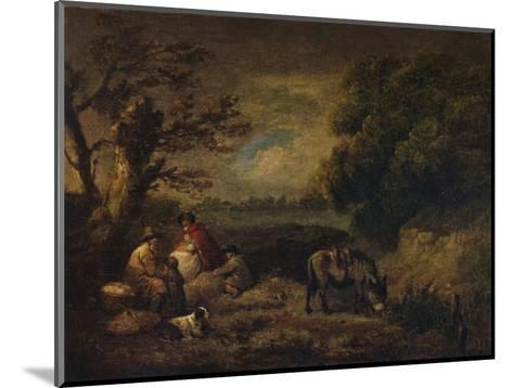 Gipsies resting with Donkey, 1795-George Morland-Mounted Giclee Print