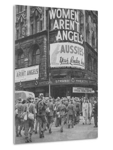 Australian soldiers on a few days leave in London, 1940, (1940)--Metal Print