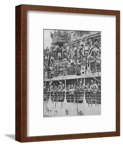 More British Troops to Frances Aid, 1940, (1940)--Framed Art Print