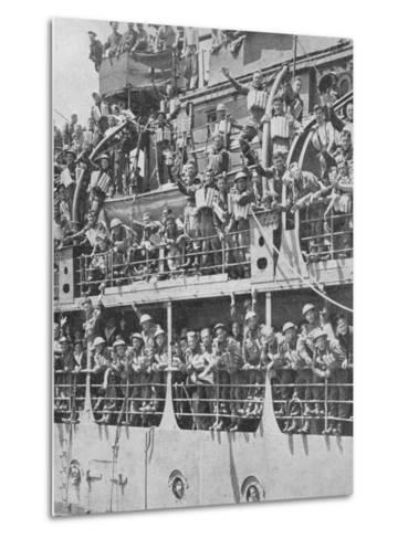 More British Troops to Frances Aid, 1940, (1940)--Metal Print
