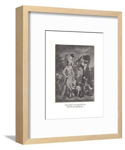 Miss Wicket and MissTrigger, c1778 (1912)--Framed Art Print