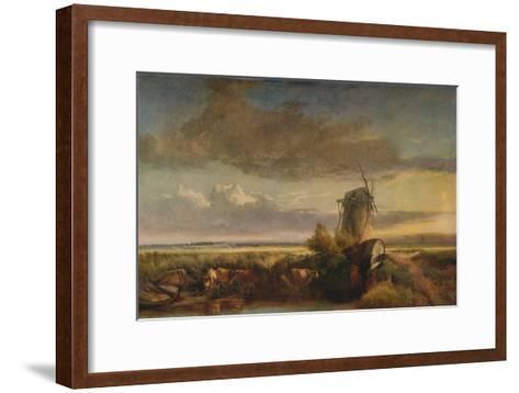Mills on the Fens, c1853-Henry Bright-Framed Art Print