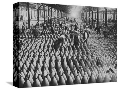 A munitions factory, World War I, 1917 (1938)-Horace Walter Nicholls-Stretched Canvas Print