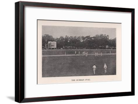 The Durban Oval, South Africa, 1912--Framed Art Print