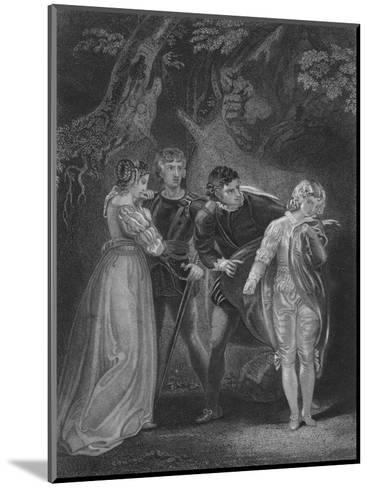 Act V Scene iv from The Two Gentlemen of Verona, c19th century--Mounted Giclee Print