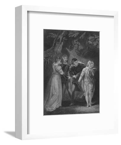 Act V Scene iv from The Two Gentlemen of Verona, c19th century--Framed Art Print
