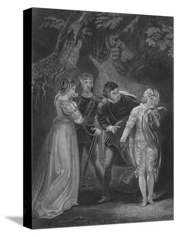 Act V Scene iv from The Two Gentlemen of Verona, c19th century--Stretched Canvas Print