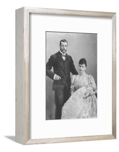The Duke and Duchess of York, with the infant Prince Edward, 1894 (1936)--Framed Art Print