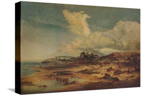 Coast Scene with Church, c1824-John Constable-Stretched Canvas Print
