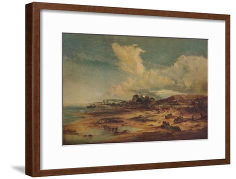 Coast Scene with Church, c1824-John Constable-Framed Art Print