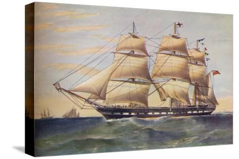 Clipper Ship, Sussex, c1853-Thomas Goldsworth Dutton-Stretched Canvas Print