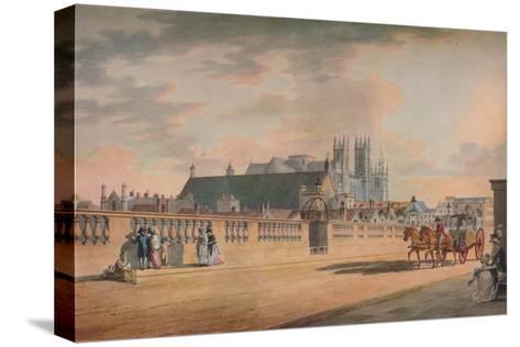 View on Westminster Bridge, 1792-Thomas Malton II-Stretched Canvas Print