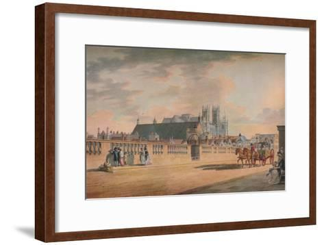 View on Westminster Bridge, 1792-Thomas Malton II-Framed Art Print