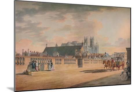 View on Westminster Bridge, 1792-Thomas Malton II-Mounted Giclee Print