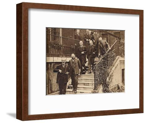 Government in Crisis, forming a National Cabinet as requested by King George V, 1931, (1938)--Framed Art Print