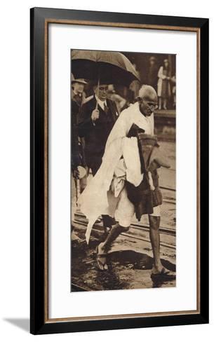 Gandhi in London, 1930, (1938)--Framed Art Print