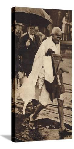 Gandhi in London, 1930, (1938)--Stretched Canvas Print