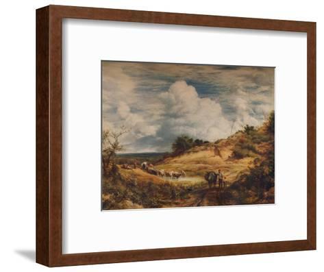 The Sandpits, 1856-John Linnell-Framed Art Print