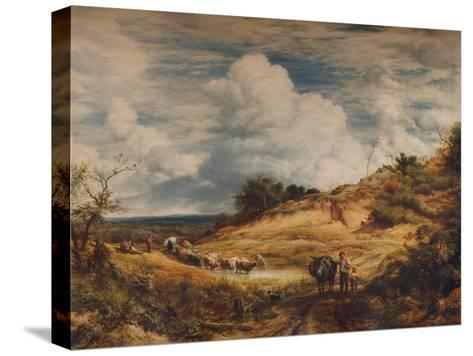 The Sandpits, 1856-John Linnell-Stretched Canvas Print