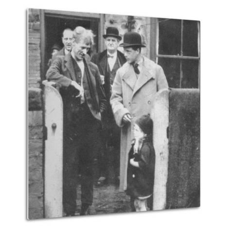 The Prince of Wales visiting a miners cottage in the Northeast of England, 1929 (1936)--Metal Print