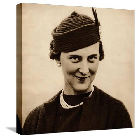 Princess Marina became engaged to King George Vs youngest son, Prince George (now Duke of Kent), w--Stretched Canvas Print