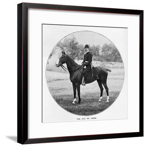 The Duc De Lorge, c1901, (1903)--Framed Art Print