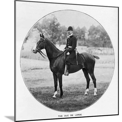The Duc De Lorge, c1901, (1903)--Mounted Giclee Print