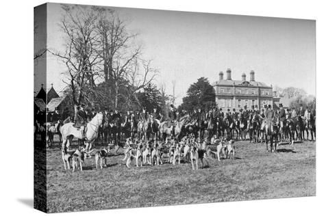 The Albrighton Hounds: A Meet at Stretton, c1903, (1903)--Stretched Canvas Print