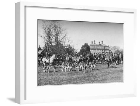 The Albrighton Hounds: A Meet at Stretton, c1903, (1903)--Framed Art Print