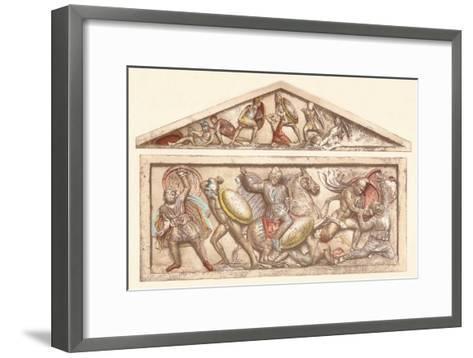 The Alexander Sarcophagus, c1901, (1907)--Framed Art Print