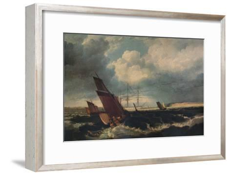 Guardship off the Nore, c1844-Clarkson Stanfield-Framed Art Print