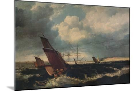 Guardship off the Nore, c1844-Clarkson Stanfield-Mounted Giclee Print