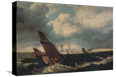 Guardship off the Nore, c1844-Clarkson Stanfield-Stretched Canvas Print