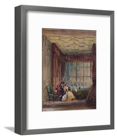 The interior of the long gallery, Haddon Hall, Derbyshire, 1833-David Cox the elder-Framed Art Print