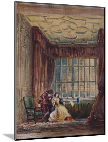 The interior of the long gallery, Haddon Hall, Derbyshire, 1833-David Cox the elder-Mounted Giclee Print