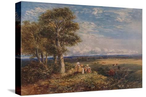 The Skylark, 1848-David Cox the elder-Stretched Canvas Print