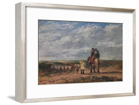 The Cross Road, 1850-David Cox the elder-Framed Art Print