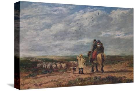 The Cross Road, 1850-David Cox the elder-Stretched Canvas Print